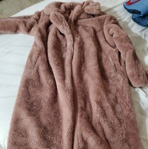 Ladies long fur coat